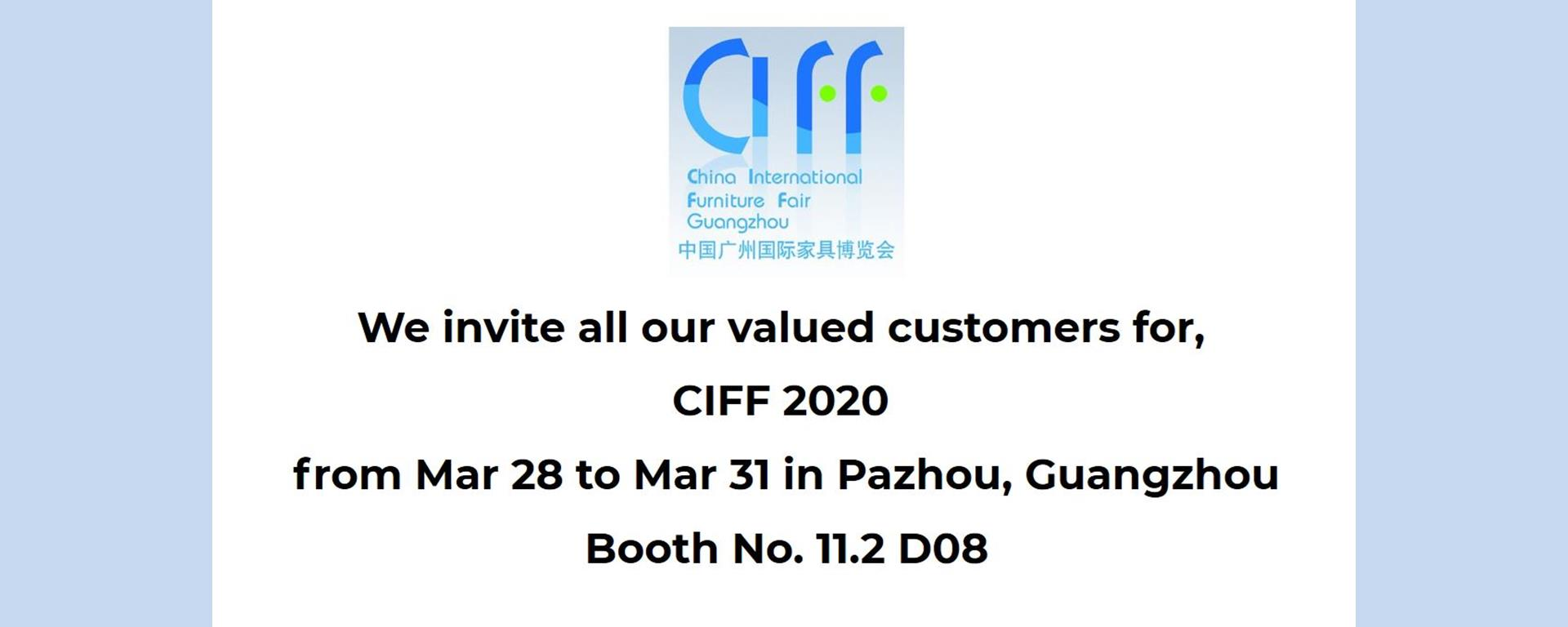Welcome to CIFF March 2020
